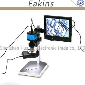 14MP CMOS HDMI микроскоп камера для промышленная печатная плата USB выход видео рекордер + 200X C-mount объектив + 144 LED Кольцевой свет + подставка + 8