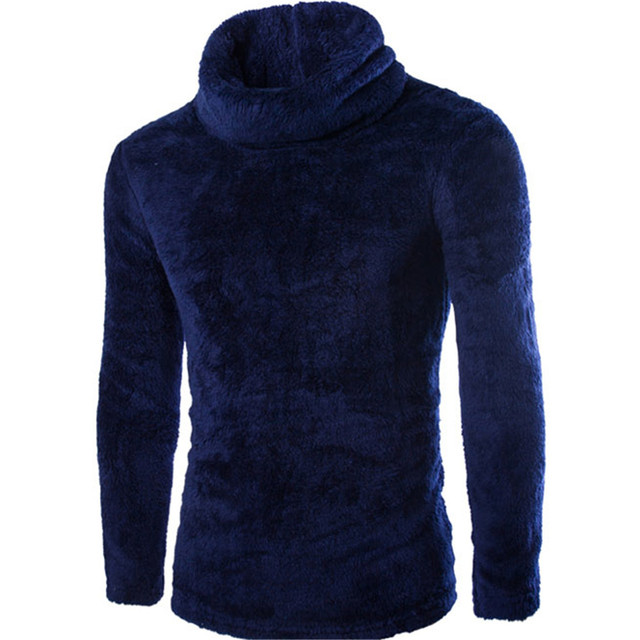 7fa6c2ec5f9 Navy Blue Sweater Men Top Fashion Warmer Comfortable Mens Sweaters Clothing  Fitness Hip Hop Streetwear Long Sleeve 2019 Sweater
