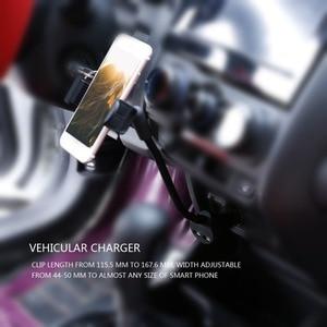 Image 2 - Cánh Tay dài Xe Người Giữ Điện Thoại Đứng Đối Với iPhone X 7 8 Xiaomi Kép USB Port Car Charger Đối Với Samsung S8 s9 3.5 6.3 inch Điện Thoại Di Động