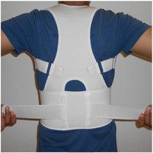 лучшая цена Back Waist Support Belt Correcting Tape for Lumbar Back Bone Care Medical Brace Posture Corrector Male Corset for Women Unisex