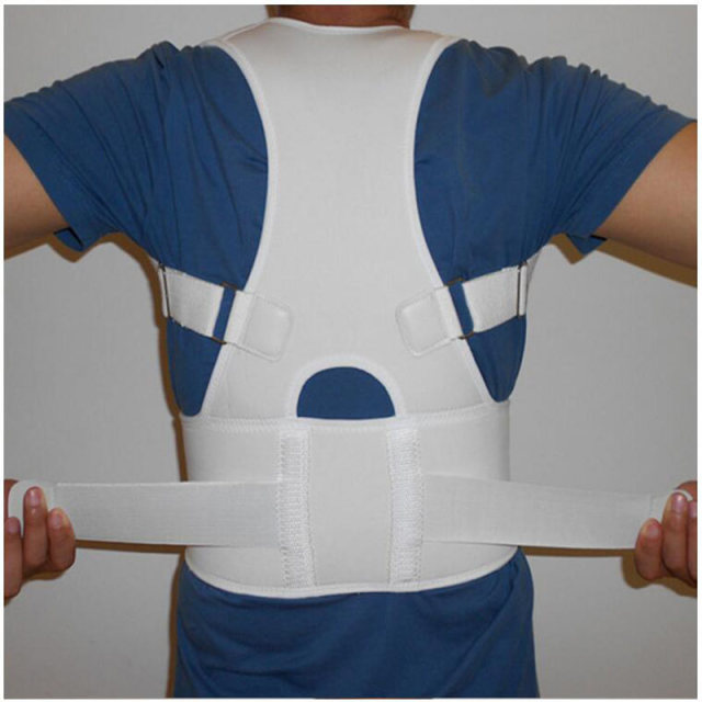 Back Waist Support Belt Correcting Tape for Lumbar Back Bone Care Medical Brace Posture Corrector Male Corset for Women Unisex