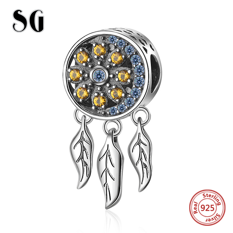 522cedf7f SG New 925 Sterling Silver Charms Dream catcher Beads Fit European European  bracelets fashion DIY Jewelry making for women gifts