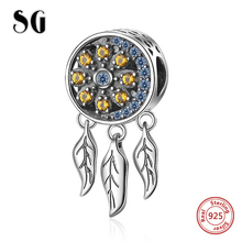 SG New 925 Sterling Silver Charms Dream catcher Beads Fit pandora pandora bracelets fashion DIY Jewelry making for women gifts sg new arrival 925 sterling silver charms dream catcher beads with cz fit pandora bracelets diy jewelry making for women gifts
