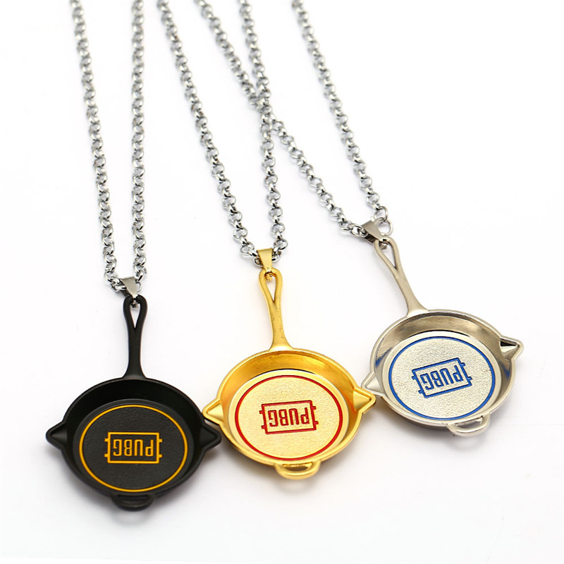 Game PUBG Necklace Metal Pens Olive Branch Black Sliver Pendants & Necklaces Men Gift Colar Jewelry Accessories Kolye HF12794