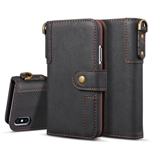 Cow Leather Case For iPhone 12 11 Pro Max 12 Mini XS X XR 8 7 6sPlus Case Flip Magnetic Wallet Phone Case For iPhone 6 6S Plus