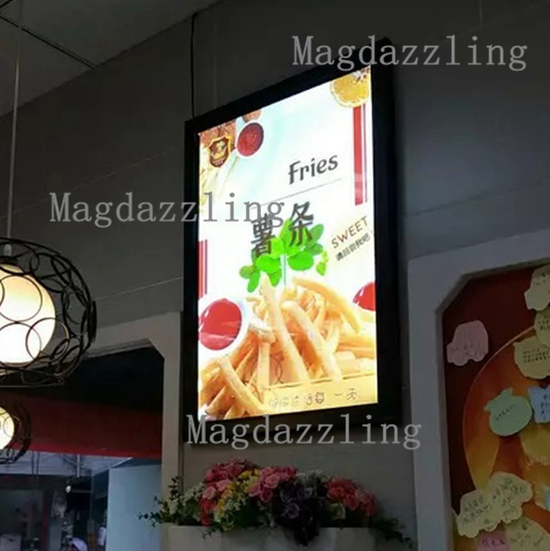 6PCS A1 Black Aluminum Frame LED Menu Board,Advertising Lightbox,Light boxes for Restaurant,Fast food Store,Pizza Shop plywood
