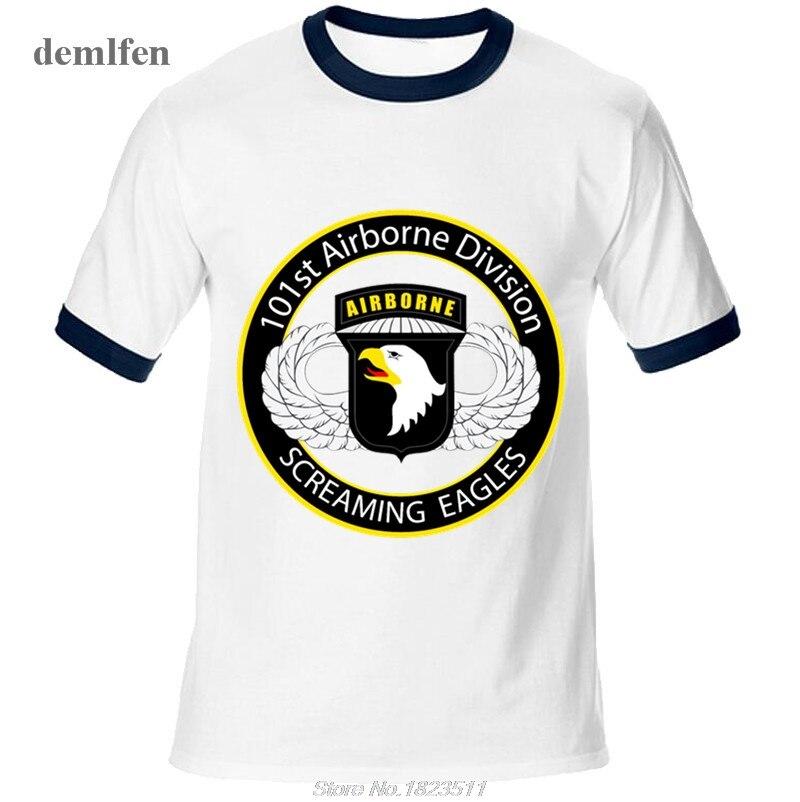New Airborne Crow Stencil T Shirts Men Raglan Sleeves T Shirt Man ... d1d0970fe