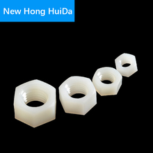 White Nylon Hex Metric Nut Hexagon Threaded Plastic Nuts M2 M2.5 M3 M4 M5 M6 M8 M10 M12 M14 M16 M18 M20