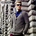 Viishow Winter Sweater Single Breasted Mens Sweater Cardigan Knitting Sweater  Men for Men Clothes ZC071