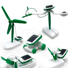 Outdoor Children Toys 6 in 1 Varied Solar Kit Build DIY Models Science Building Toys  Baby intellectual development Toys  FL