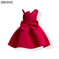 Big Bow Baby Girl Princess Dress Kids Sleeveless Party Dresses For Toddler Girl Children Fashion Clothing