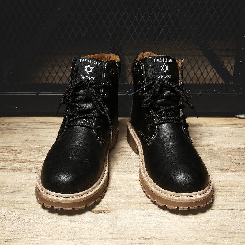 Os Inverno Do corte Para Botas Segurança Moda Alta Boots Ankle gray Calçados Homens Black 2018 Sapatos De brown Trabalho Quente BgwpRqx