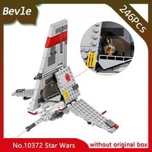 Bevle Store Bela 10372 246pcs Star Wars Series T-16 leaping fighter Model Building Blocks Set Bricks Compatible  75081