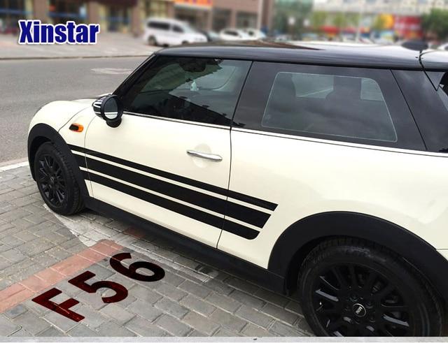 Car Side Strip Sticker Exterior Decoration For Bmw Mini Cooper Clubman Countryman R55 R56 R60