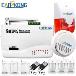 433MHz Wireless GSM Alarm System, For Home Security Alarm, With Door / Infrared detector, Smoke Detector, Dual Antenna,