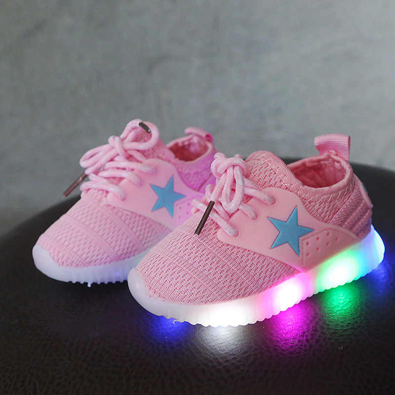 LED Light Shoes Kids 1 3 years baby