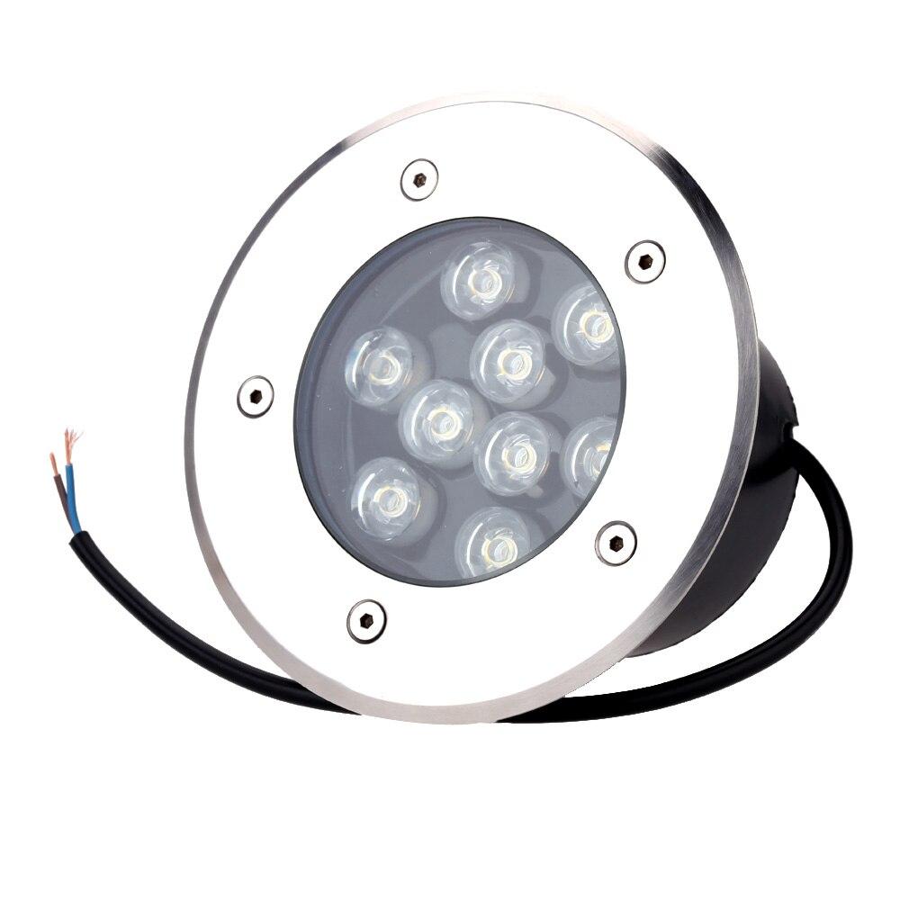ФОТО 9W LED underground light led Outdoor In Ground Garden Square Flood Spotlight Waterproof Landscape Light Lamp Bulb 85 265V