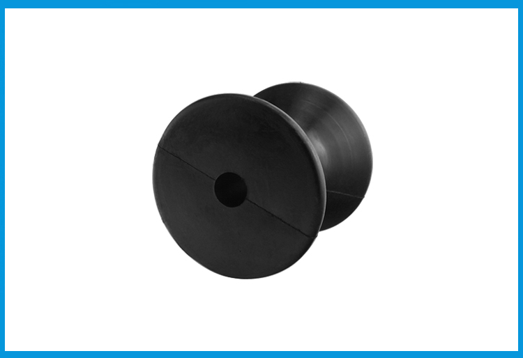 """3/"""" Inch Mounting Rubber Stop Roller Boat Wheel Mold Bow Black For Yacht Trailer"""