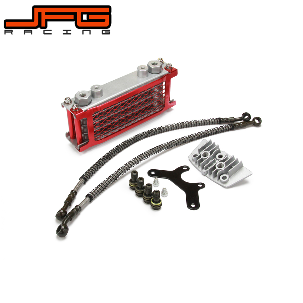 Aluminum Oil Cooler Radiator Cooling Set For Zongshen <font><b>Lifan</b></font> Loncin Kayo Apollo Xmotos 50CC <font><b>70CC</b></font> 90CC 110CC Dirt Pit Bike image