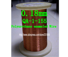 Free shipping 100m / pcsQA-1-155 Magnet Wire 0.18mm Enameled Copper wire Magnetic Coil Winding