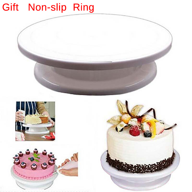 Methodisch Cake Base Cake Decorating Gereedschap Roterende Cake Stand Suiker Ambachtelijke Turntable Platform Cupcake Kwartelplaat Revolving Bakken Tools