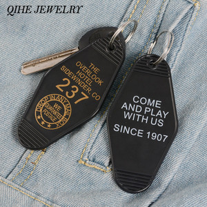 QIHE JEWELRY THE SHINING Keychain OVERLOOK HOTEL Room 237 Pendant Key Chain Keyrings Horror film Jewelry