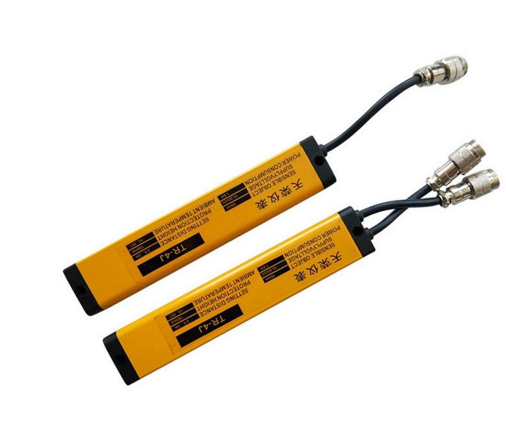 Luce di sicurezza reticolo sensore di 40 millimetri di spazio 12 travi protezione punzonatura pressa idraulica fotoelettrico protezione TR51 12 4J