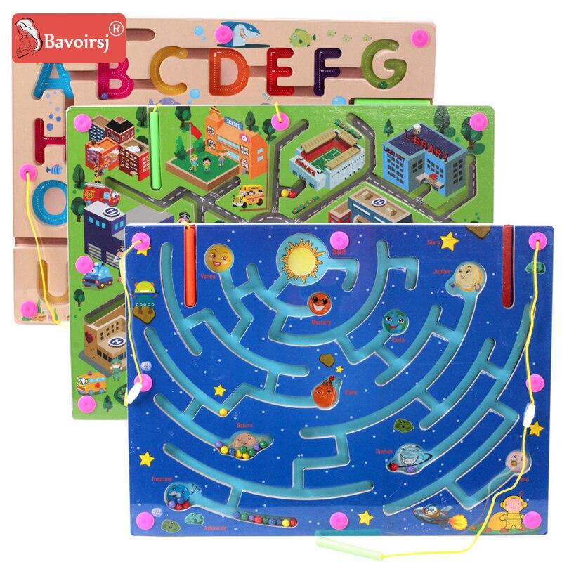 Carré en bois Montessori labyrinthe jouets coloré éducation précoce Cognition apprentissage enfants jouet pour enfants bébé T0296
