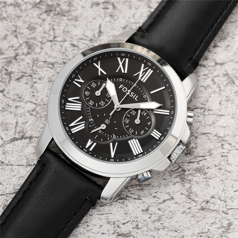FOSSIL Watch Men Brand Quartz Wristwatch Mens Chronograph Sports Watches With Leather Strap Montre Homme 2019