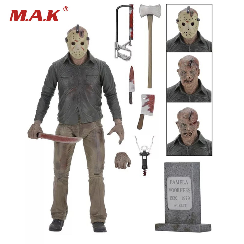 Friday The 13TH The Final Chapter Freddy Vs Jason Cartoon Toy Action Figure Model Doll Gifts with Box neca friday the 13th the final chapter jason voorhees pvc action figure collectible model toy 7inch 18cm