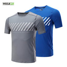 WOSAWE Quick Dry Mens Running Shirt Mesh Short Sleeve T-Shirts Fitness Tight Tennis Soccer Jersey Gym Jogging Sportswear
