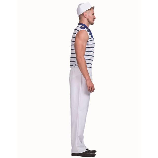 724cb96fca3 Sexy French Sailor Mens Uniform Fancy Dress Costume