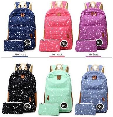 J Bg Pink 2016 Hot Sale Canvas Women backpack Big Capacity School Bags For Teenagers Printing