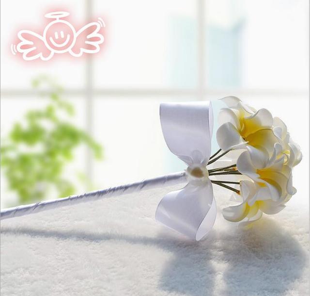 LJ035 Romantic Wedding Bouquet Frangipani Buque de noiva Bride Hand Bouquets Free Shipping