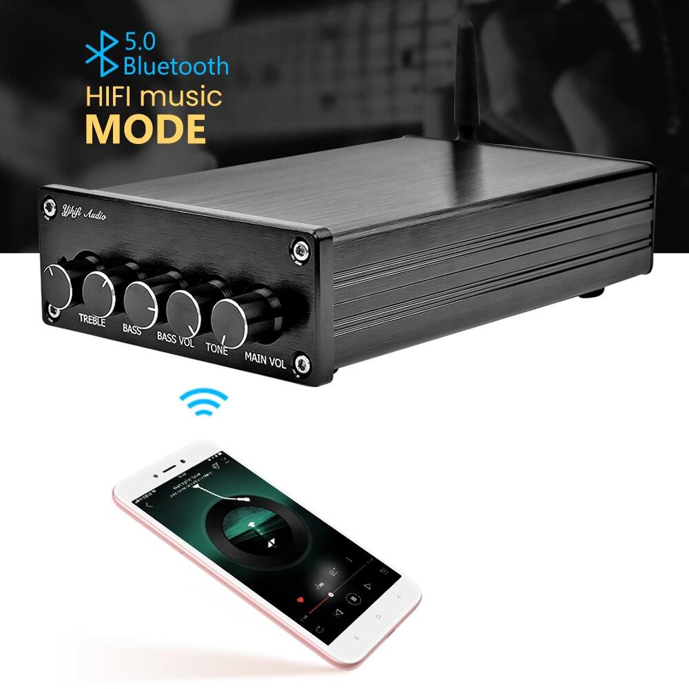 AIYIMA Mini amplificateur Bluetooth 5.0 puissance caisson de basses amplificateur 2.1 TPA3116 classe D numérique Hifi fièvre Audio amplificateurs maison-in Amplificateur from Electronique    1