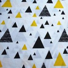 цена half meter 50*235cm geometric triangle print patchwork cotton fabric for Tissue Kids home textile for Sewing Tilda Doll CR-A341 онлайн в 2017 году