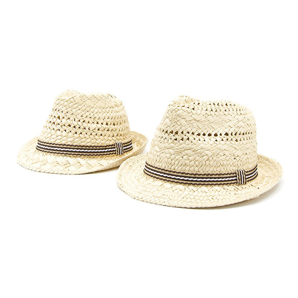Fashion Handwork Women Summer Straw Sun Hat Boho Beach Fedora Hat Sunhat  Trilby Men Panama Hat