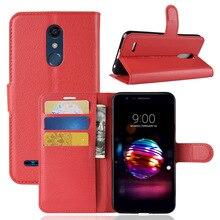 купить High Quality PU Leather Wallet Case With Card Holder Flip Case Kickstand Cover For LG K10 2018 /K30 /K10 Alpha / Premier Pro LTE дешево