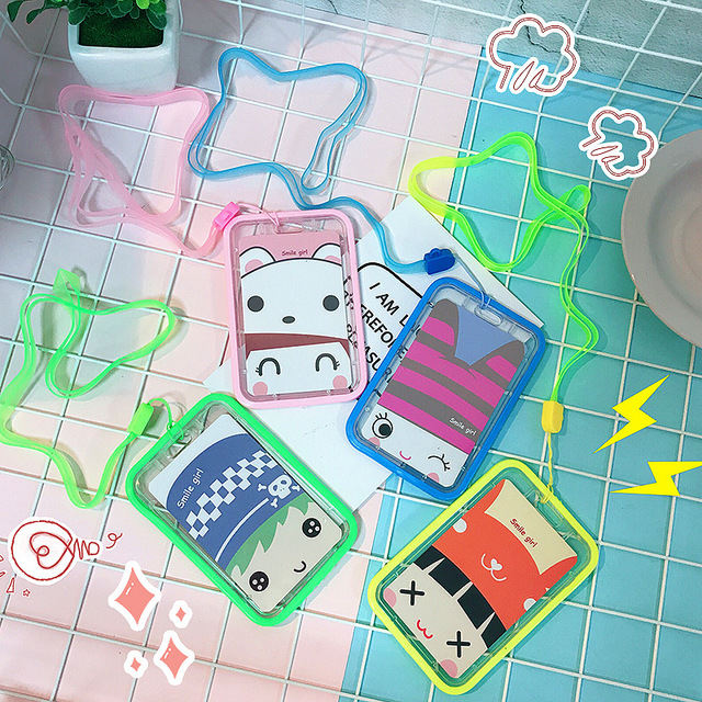 Cute Badge Holder Accessories ID Card Holder Children Silicone Candy Color  Lovely Bus ID Door Credit Cards Case For WOMEN 9bd400c499