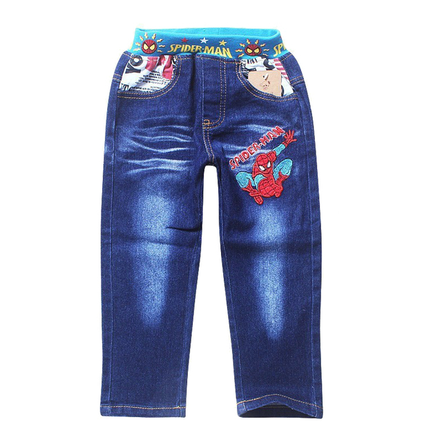Retail 2017 spring and autumn new fashion Spiderman kids boys leisure jeans children trousers pants/denim pant