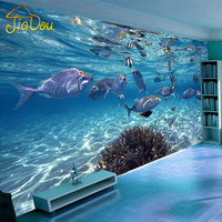 Custom Photo Wallpaper 3D Stereoscopic Underwater World Of Marine Fish Living Children S Room TV Background