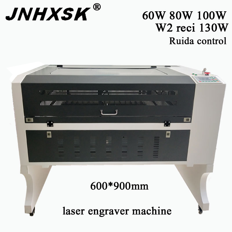JNHXSK 6090 100w Ruida Co2 Laser Engraving Machine Support Long Material CNC Laser Engraver DIY Laser Marking Machine Carving