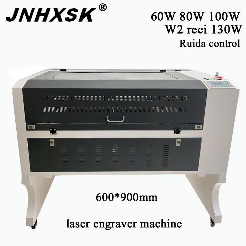 JNHXSK 6090 100w Ruida Co2 Laser Engraving Machine Support Long Material CNC Laser Engraver DIY Laser Marking Machine Carving