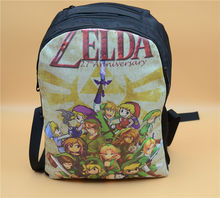zelda backpack The Legend of Zelda: Skyward Sword Backpack Shoulder Bag Computer Bag blue F style