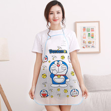 Cute Cartoon PVC Aprons Practical Simple Waterproof Kitchen Baking Cooking Adjustable Apron Creative Household Cleaning Tools rainbow unicorn waterproof cooking baking apron