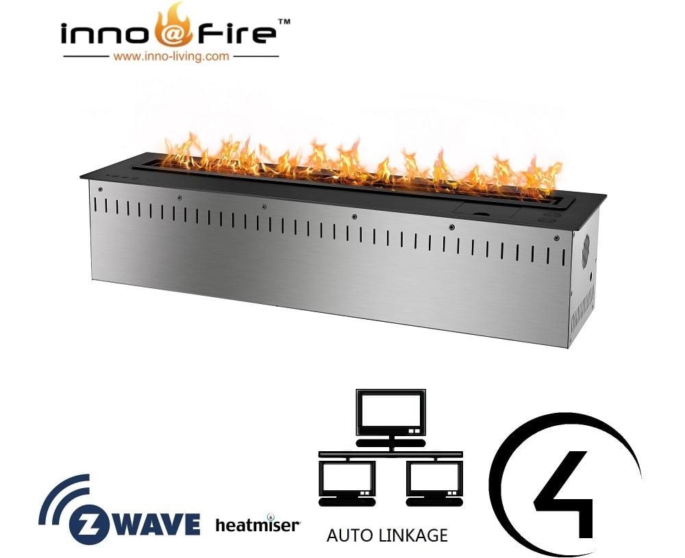 Inno Living Fire 48 Inch Open Haard Bio Ethanol Fireplace Remote Control