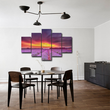 Modular Canvas HD Prints Posters Home Decor Wall Art Pictures 5 Pieces Sunset Glow Art Scenery Landscape Paintings Framework