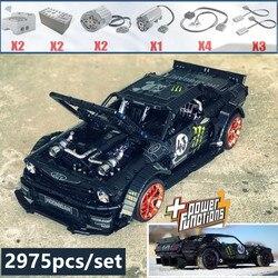 2019 Nuovo 1965 Ford Mustang Hoonicorn Auto Da Corsa fit legoings Technic MOC-22970 FIT 20102 mattoni building block giocattoli del capretto del regalo