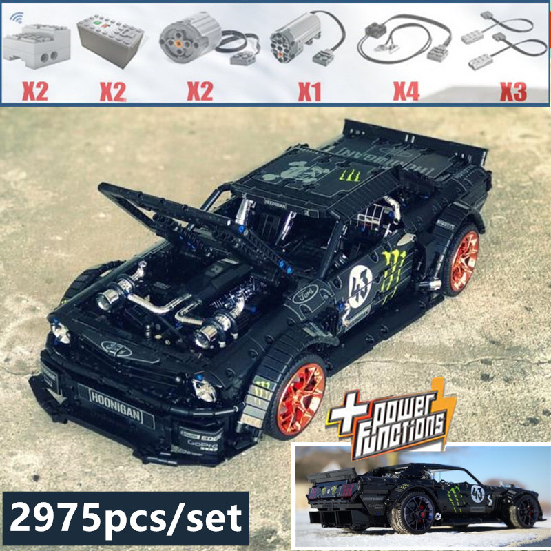 2019 nouveau 1965 Ford Mustang Hoonicorn voiture de course fit legoings Technic MOC-22970 FIT 20102 bloc de construction briques enfant jouets cadeau