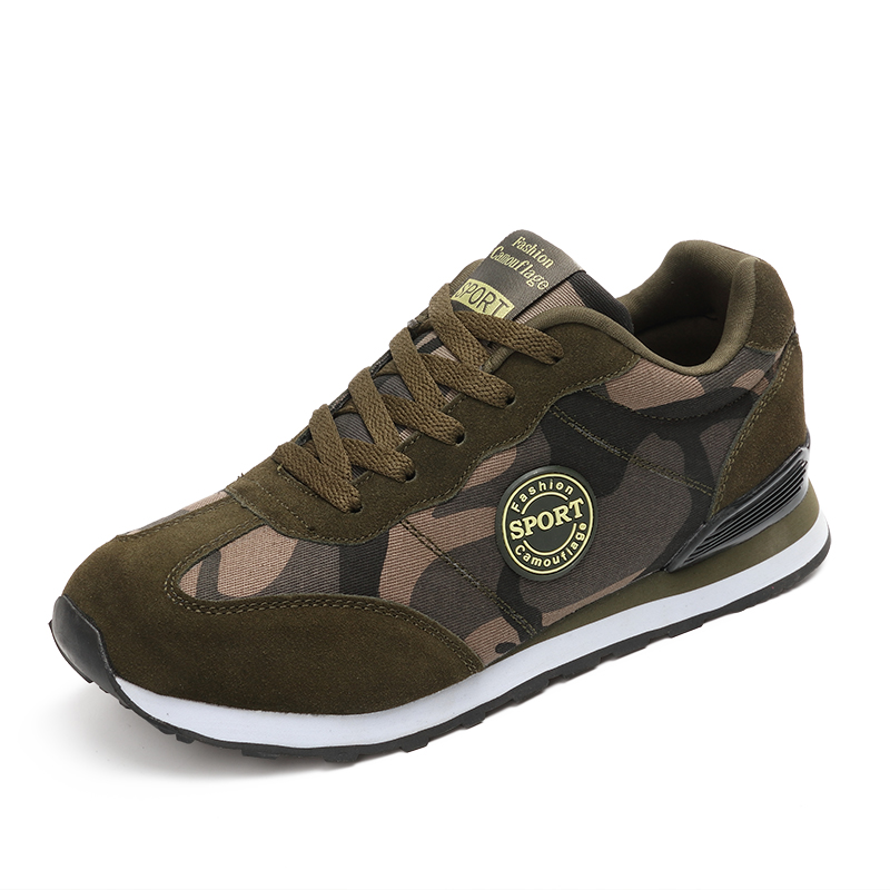 2017 Lovers running lace upS hoes Camouflage Military Men sport green sneaker unisex Autumn outdoor Camo Flats Men Chaussure